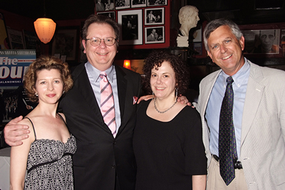 Amy Loyd, me, Joanne Gruber, and my editor Gerry Howard