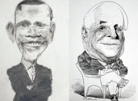levObama y McCain, vistos por David Levine